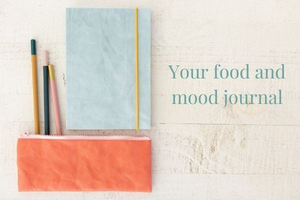Food and mood journal for healthy digestive system