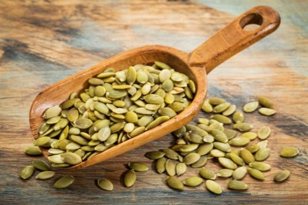 pumpkin seeds are a great source of the mineral magnesium